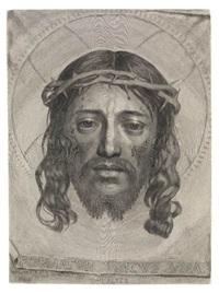 le sainte face (veronica's veil) by claude mellan