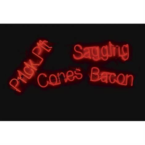 sagging bacon cones prick pit by jason rhoades