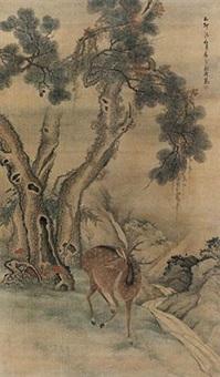 松鹿长春图 by liu han