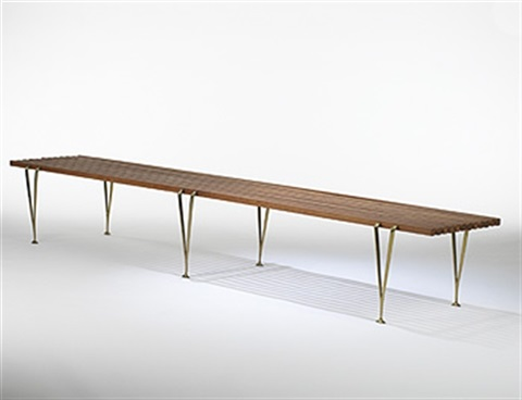 suspended beam bench by hugh acton