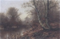 a woodland pond by walter boodle