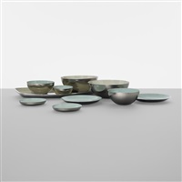 collection of ten bowls by arne korsmo and grete prytz kittelsen