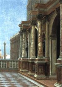 venedig - blick von der logetta di san marco auf die piazzetta by george von hoesslin