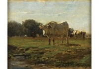vaches au paturage by constant troyon