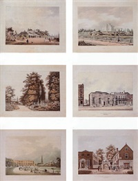 six views of cheltenham, london by h. merke