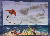 untitled (kites & clouds) by malcolm morley