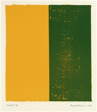 canto x (from 18 cantos) by barnett newman