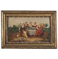 convivio di fanciulle in un parco by flemish master (17)