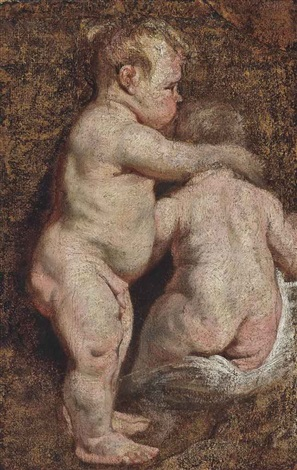 study of two putti by sir anthony van dyck