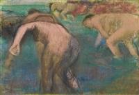 femmes au bain by edgar degas
