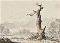 kleine landschaft mit morschem baum by johann heinrich tischbein the younger