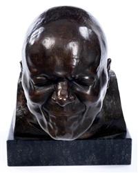 bronzekopf eines grimasse schneidenden mannes by franz xaver messerschmidt