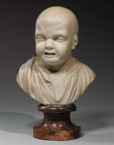 bust of a crying child by anonymous european 18