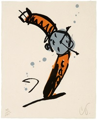 wrist watch rising, state ii by claes oldenburg