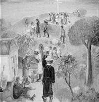 anbetung eines kreuzes im urwald by wilson bigaud