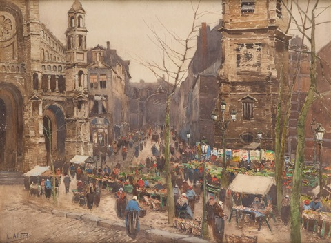 marché place sainte catherine by léon allard