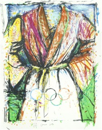 multicoloured robe (for seoul) by jim dine