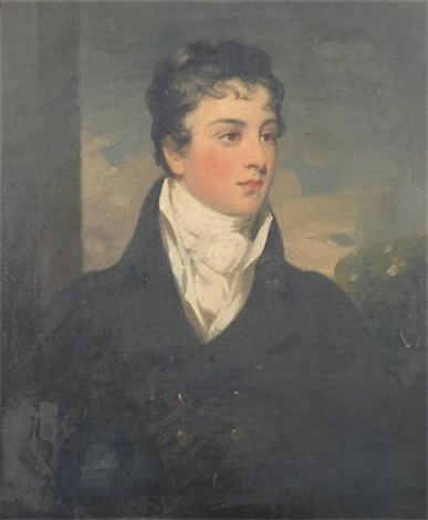 portrait of john eh pryce in regimental uniform by james godsell middleton