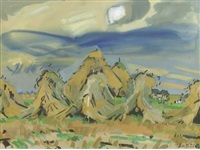 haystacks by jan van der zee