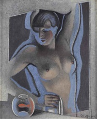 suzanne nue au poisson rouge by jean metzinger