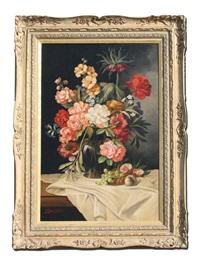 floral still life by evelio garcia mata