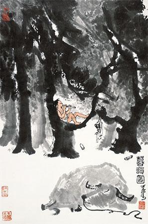 暮韵图 by li keran
