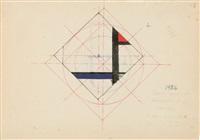 etudes pour composition, recto et verso (studies) by jean albert gorin