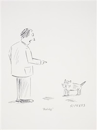 new yorker cartoon drawing no. 9 by karl haendel