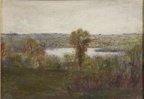 expansive spring landscape by john henry twachtman