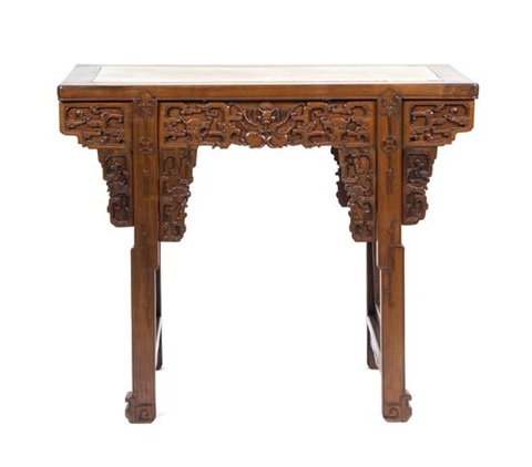 A Chinese Hardwood Altar Table Height 35 x width 41 x depth