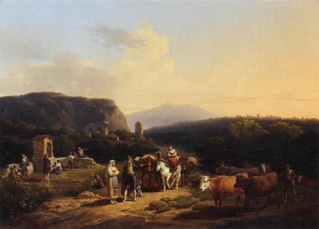 paysage italien by hippolyte lecomte