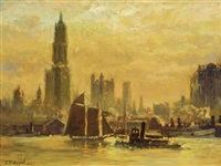 skyline across harbor by charles p. appel