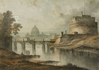 castle san angelo, rome by john glover
