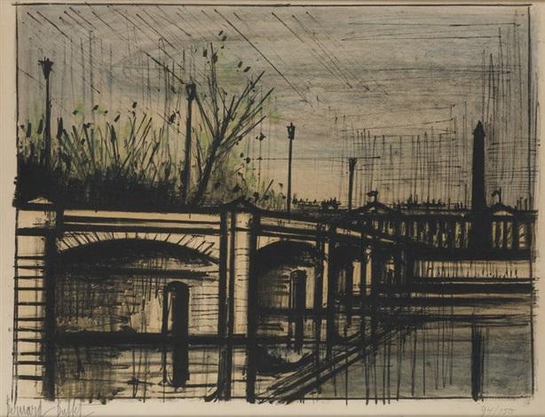 le pont de la concorde by bernard buffet