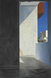 untitled (walls and shadows) by atul dodiya