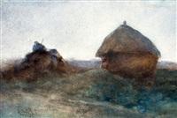 hooiberg in het veld linksonder get by paul joseph constantin gabriël