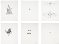 various flying creatures (set of 6) by kiki smith