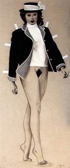 paper doll christine by thierry bisch