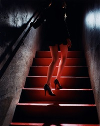 girl on the red steps by david drebin