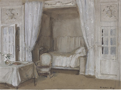 the interior of a bedroom by walter gay