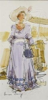 portrait of a lady in july by adriaan hendrik boshoff