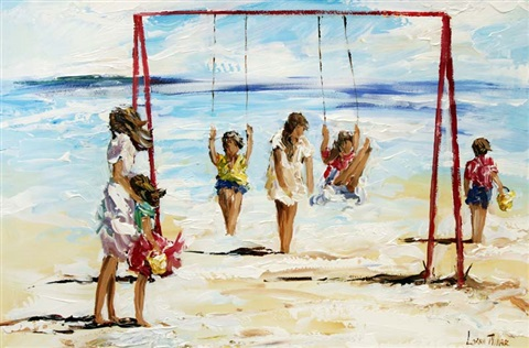 beach swings by lorna miller