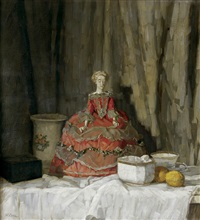 still life with doll by walter conz