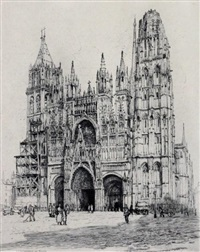 la cathedrale de rouen by caroline helena armington