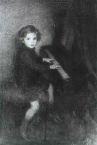the musician - philip buchel at the piano by charles a. buchel