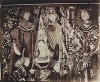 tapisserie mille fleurs (princesse et courtisans) by eugène atget