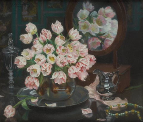 les tulipes perroquets by jan van de fackere