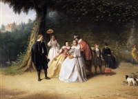 galante scene by johannes christoffel vaarberg