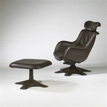 Adjustable Lounge Chair And Ottoman By Yrjö Kukkapuro