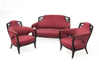 salotto liberty composto da un divano a due posti by vittorio valabrega